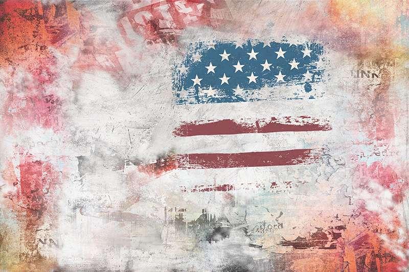 Carta da parati American Flag