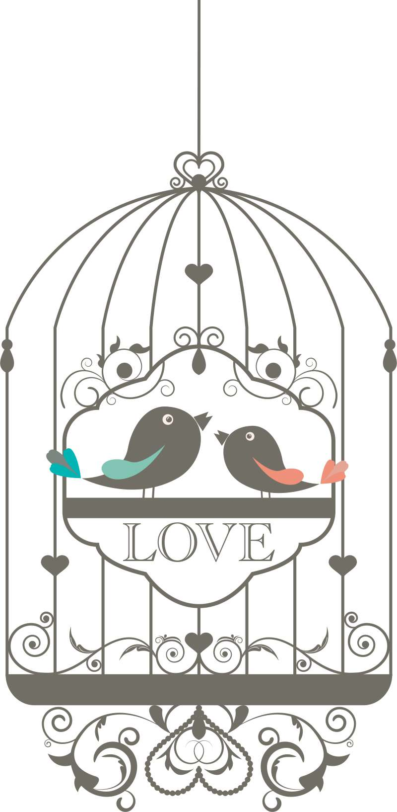 Carta da parati Bird love