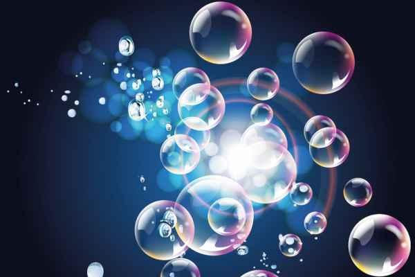 Carta da parati Acqua bolle e riflessi