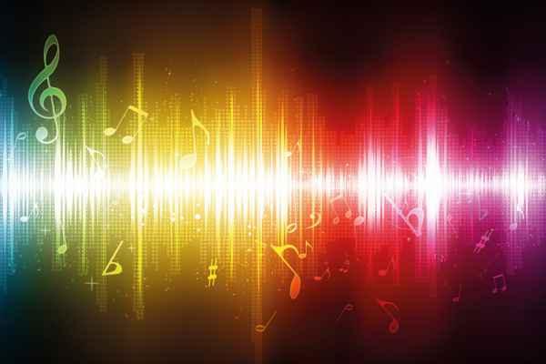 Carta da parati Colori e Musica