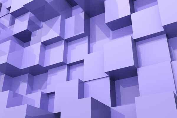Carta da parati Cubi Viola