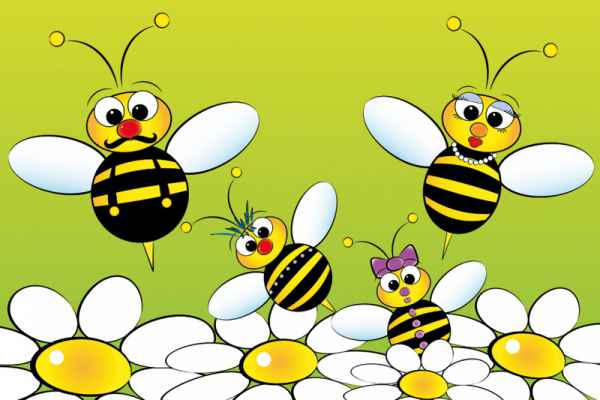 Carta da parati Bees Family