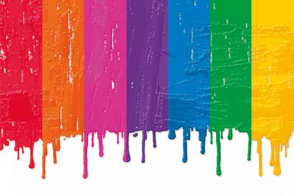 Carta da parati Colatura Pittura