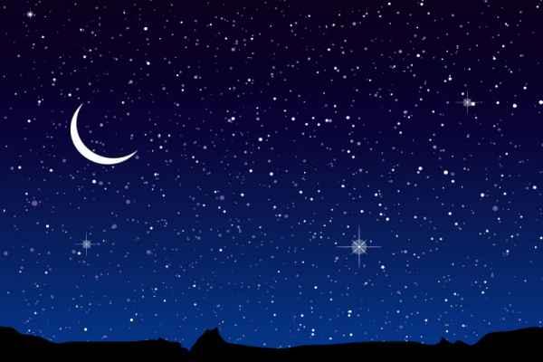 Carta da parati Cielo Stellato e Luna