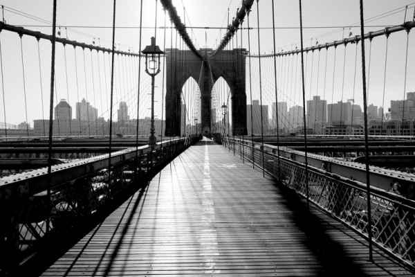 Carta da parati New York, Brooklyn Bridge Vintage