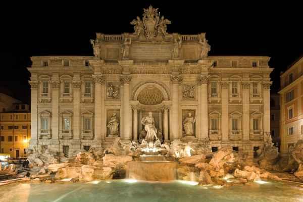 Carta da parati Roma, Fontana di Trevi Night