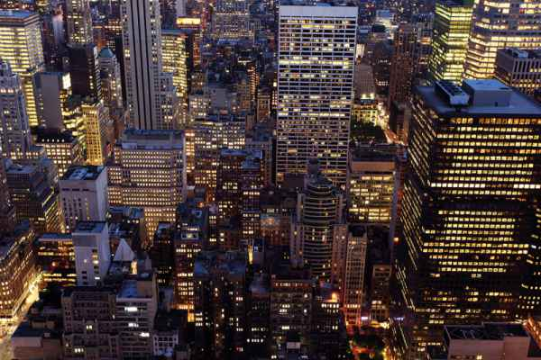 Carta da parati New York, Grattacieli Night