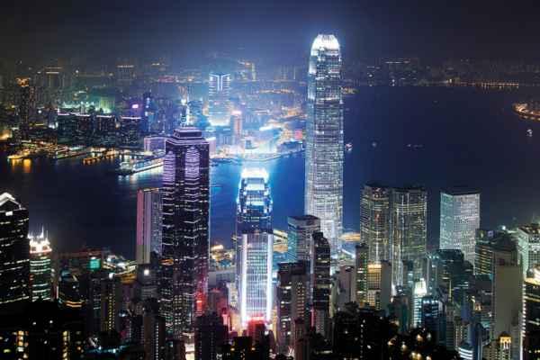 Carta da parati Hong Kong Night