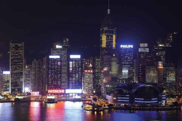 Carta da parati Hong Kong Skyline