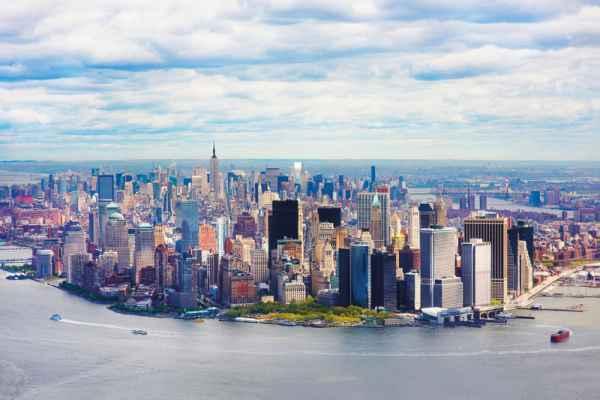 Carta da parati New York, Manhattan Aerea