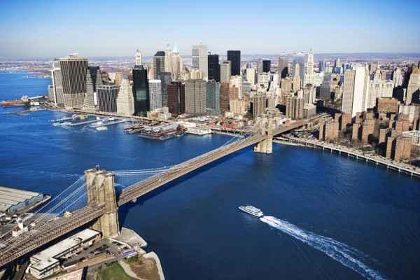 Carta da parati New York, Manhattan e Ponte di Brooklyn