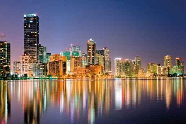 Carta da parati Miami Skyline