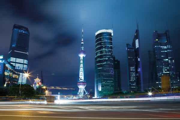 Carta da parati Shanghai Skyline