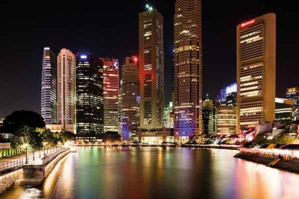 Carta da parati Singapore Night