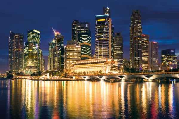 Carta da parati Singapore Skyline