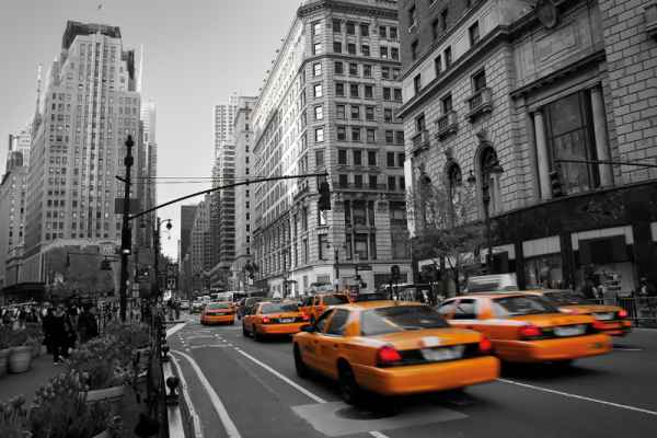 Carta da parati New York, Taxi Manhattan