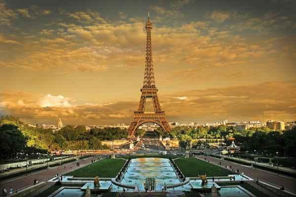 Carta da parati Parigi, Torre Eiffel Piazza