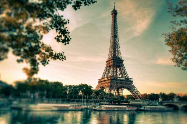 Carta da parati Parigi, Torre Eiffel Vintage