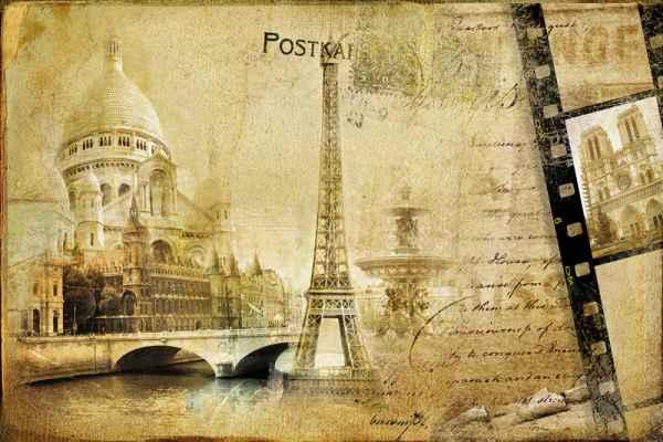 Carta da parati Vecchia Parigi