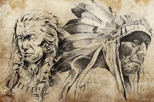 Carta da parati Indiani