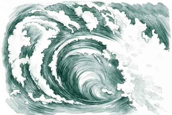 Carta da parati Onda oceanica