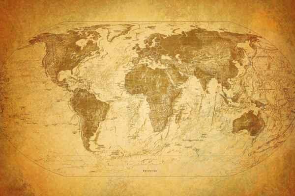 Carta da parati Vecchia Mappa