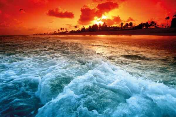 Carta da parati Oceano Tramonto