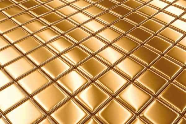 Carta da parati Cubi Oro