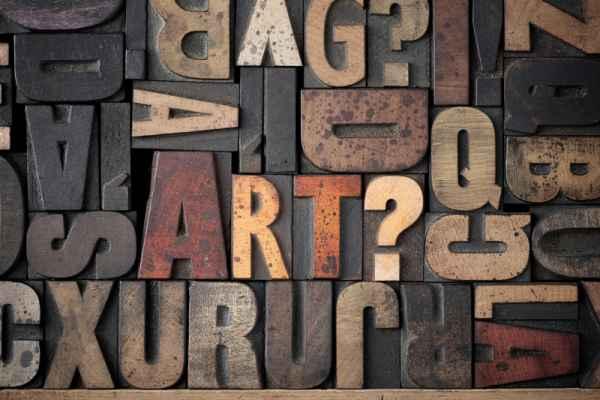 Carta da parati Lettere tipografiche
