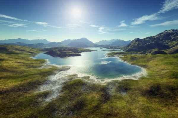 Carta da parati Lago montano