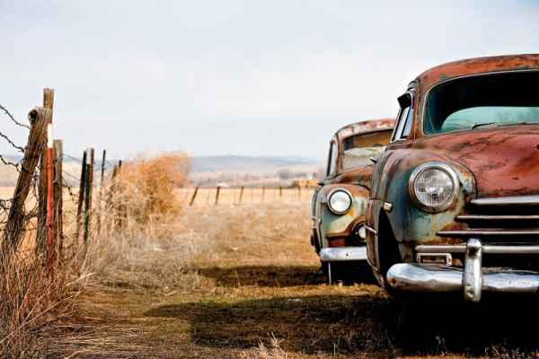 Carta da parati Deserto Auto
