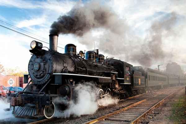 Carta da parati Treno a Vapore