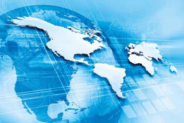 Carta da parati Proiezione Mondiale