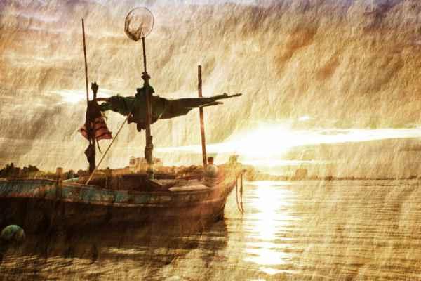 Carta da parati Vecchia barca da pesca